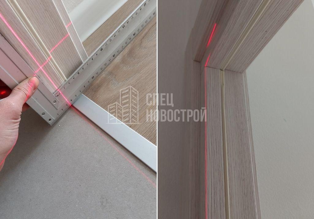 отклонение коробки межкомнатной двери от вертикали на 11 мм