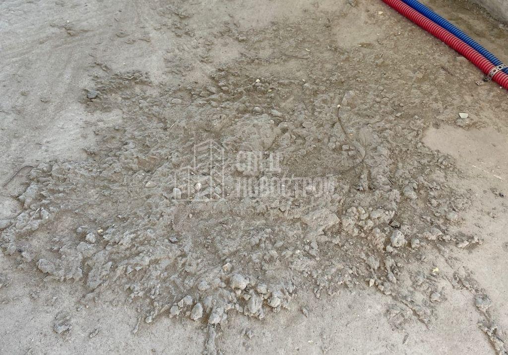 наплывы строительного раствора на плитах перекрытия пола