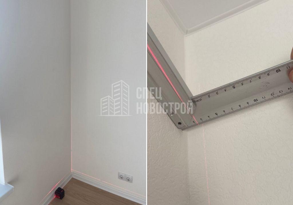 отклонение стены от вертикали на 22 мм