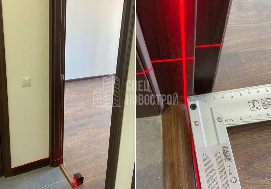 отклонение короба межкомнатной двери от вертикали на 8 мм