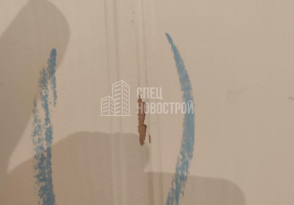 скол на ламинации дверного полотна входной двери