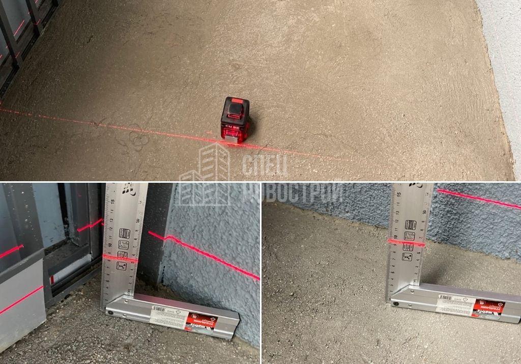 перепад уровня пола лоджии 9 мм на 1 метр
