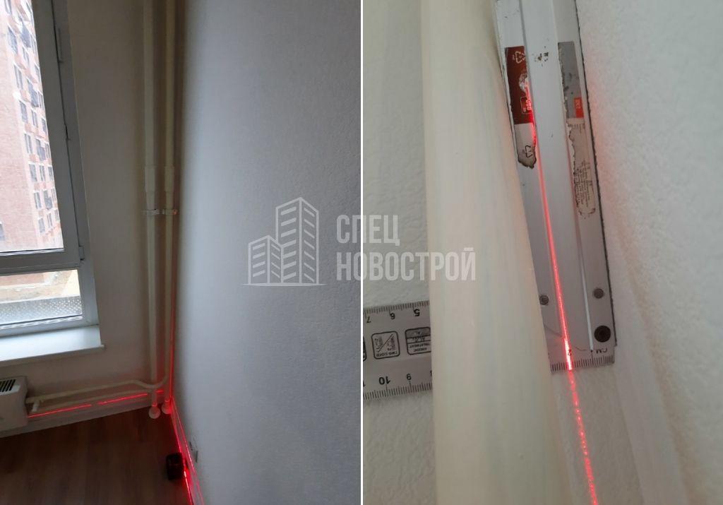 отклонение стены от вертикали на 20 мм
